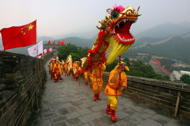 chinese and the dragon dance